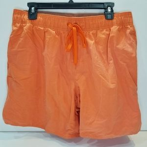 St. John's Bay Orange Swimsuit Trunks Large